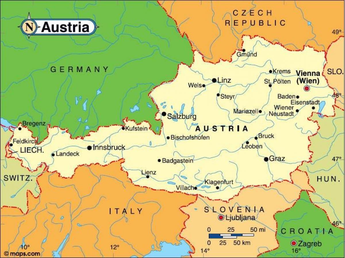 Innsbruck Osterrike Karta Osterrike Innsbruck Karta Vastra