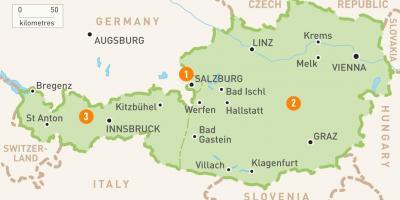 Osterrike Map Kartor Osterrike Vastra Europa Europa